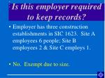 is this employer required to keep records