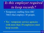 is this employer required to keep records9