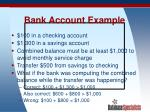 bank account example