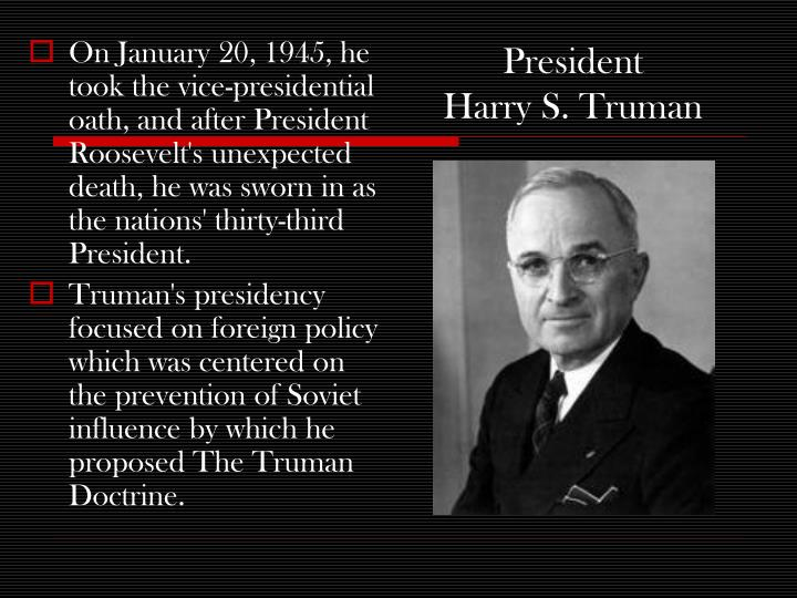 the life and career of president harry truman Watch this video about president harry truman providing interesting, fun facts and info about the life biography of harry truman, president of the united states of america gain a fast overview of.