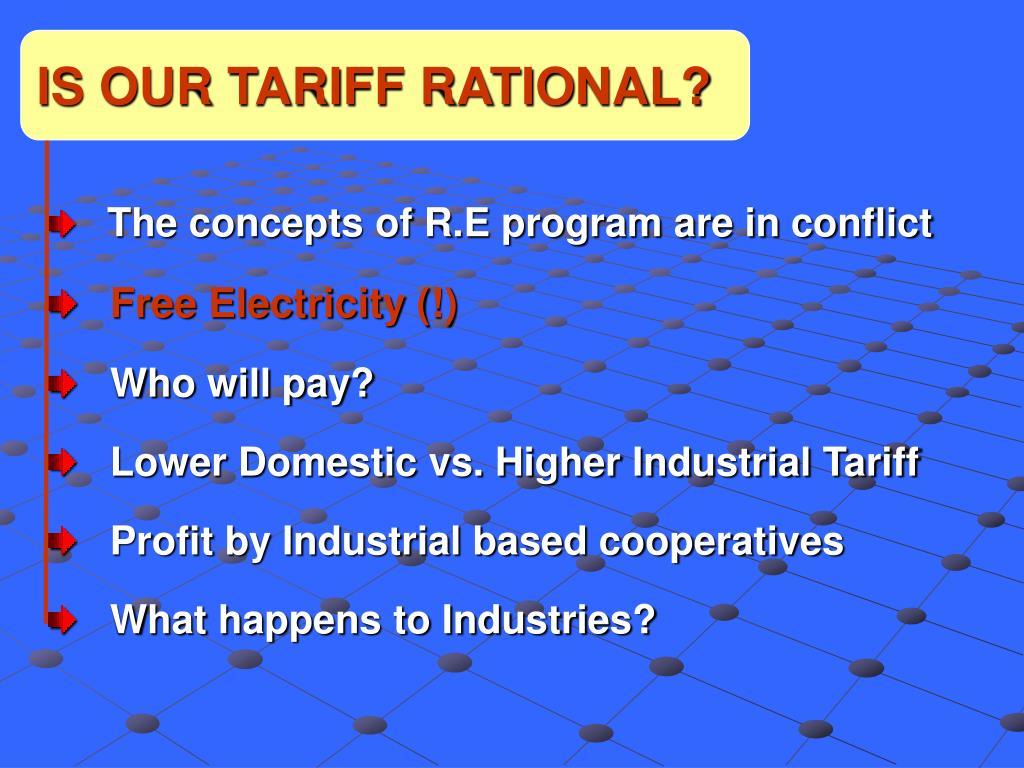 IS OUR TARIFF RATIONAL?