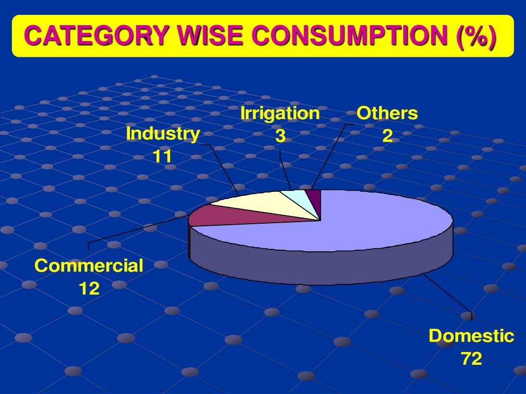 CATEGORY WISE CONSUMPTION (%)