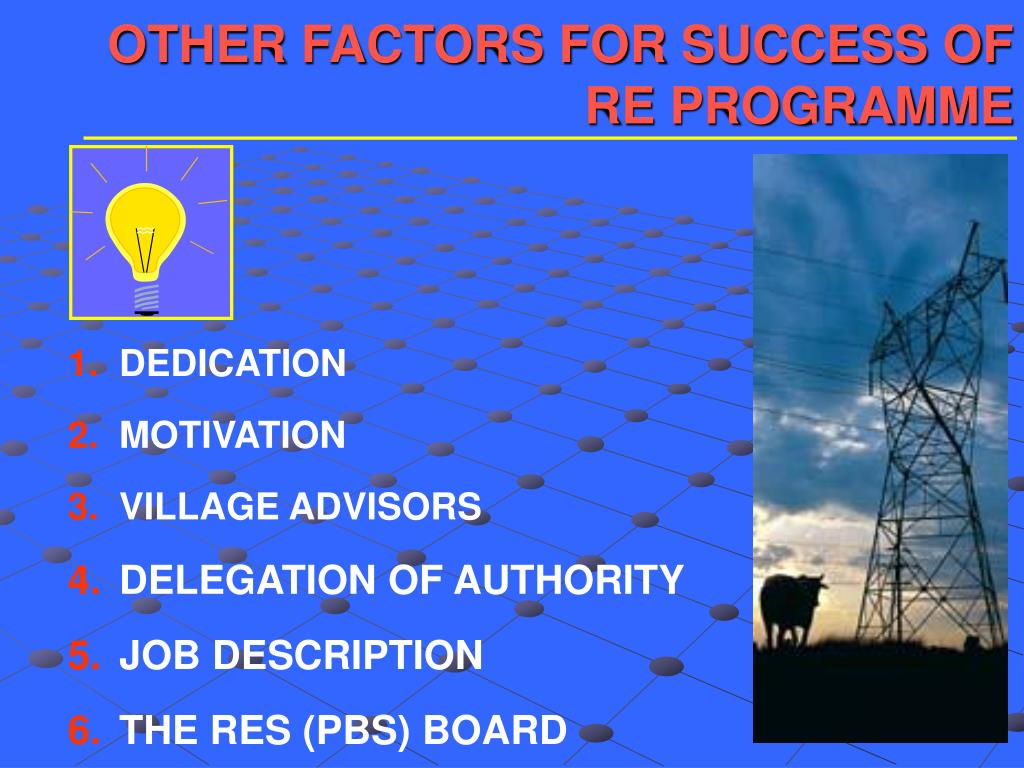 OTHER FACTORS FOR SUCCESS OF