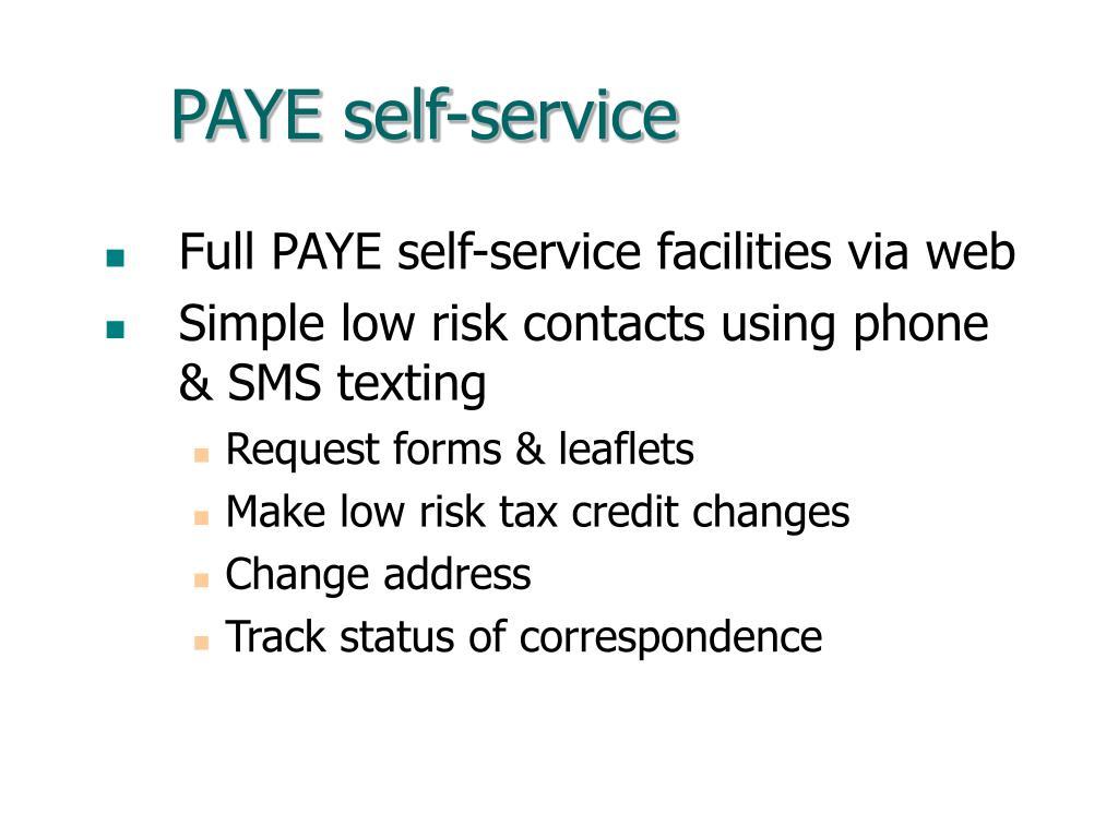 PAYE self-service