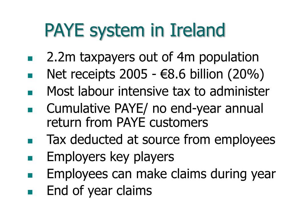 PAYE system in Ireland