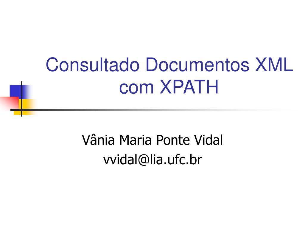 consultado documentos xml com xpath l.