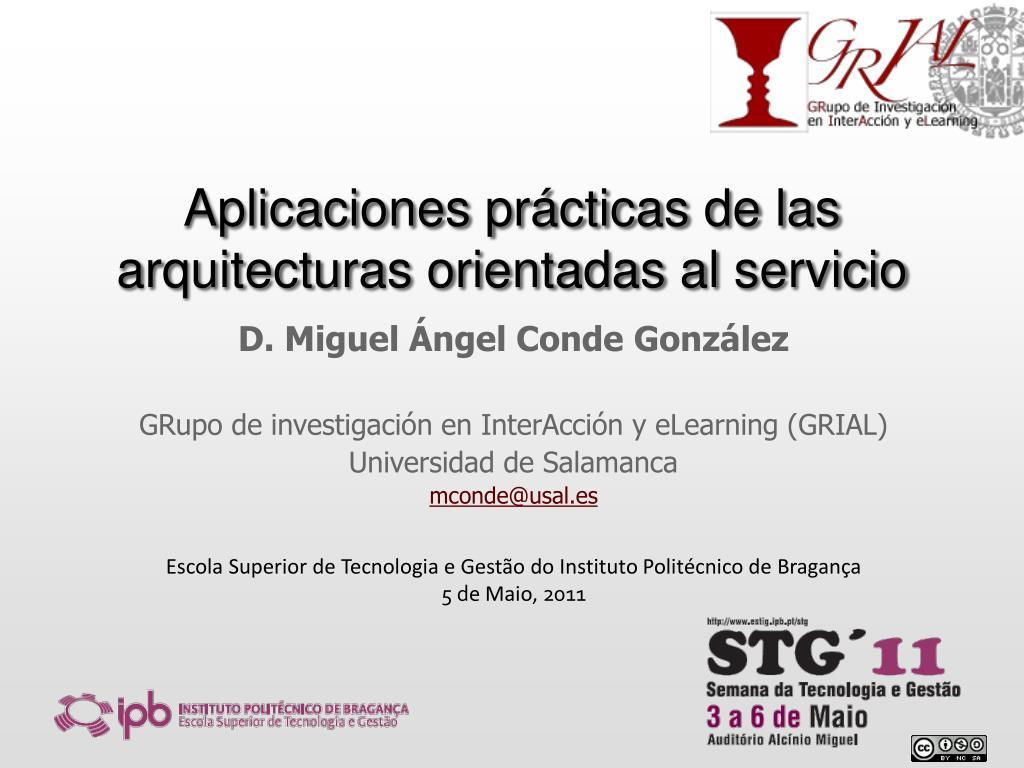 aplicaciones pr cticas de las arquitecturas orientadas al servicio l.