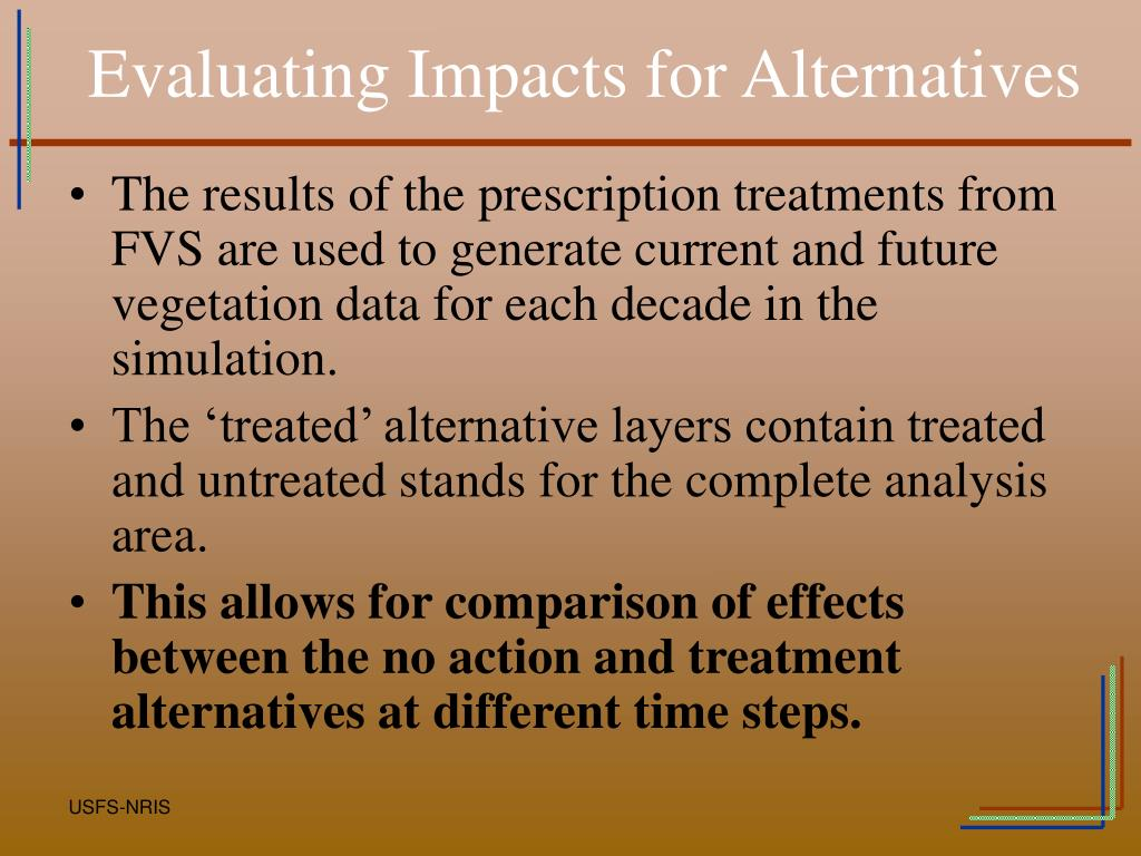 Evaluating Impacts for Alternatives