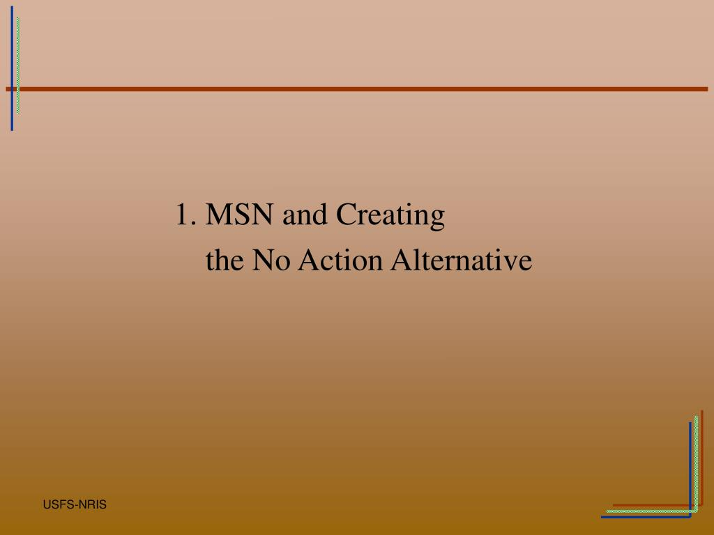 1. MSN and Creating