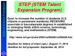 step stem talent expansion program