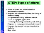 step types of efforts