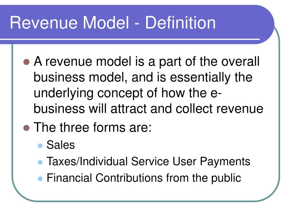 Revenue Model - Definition