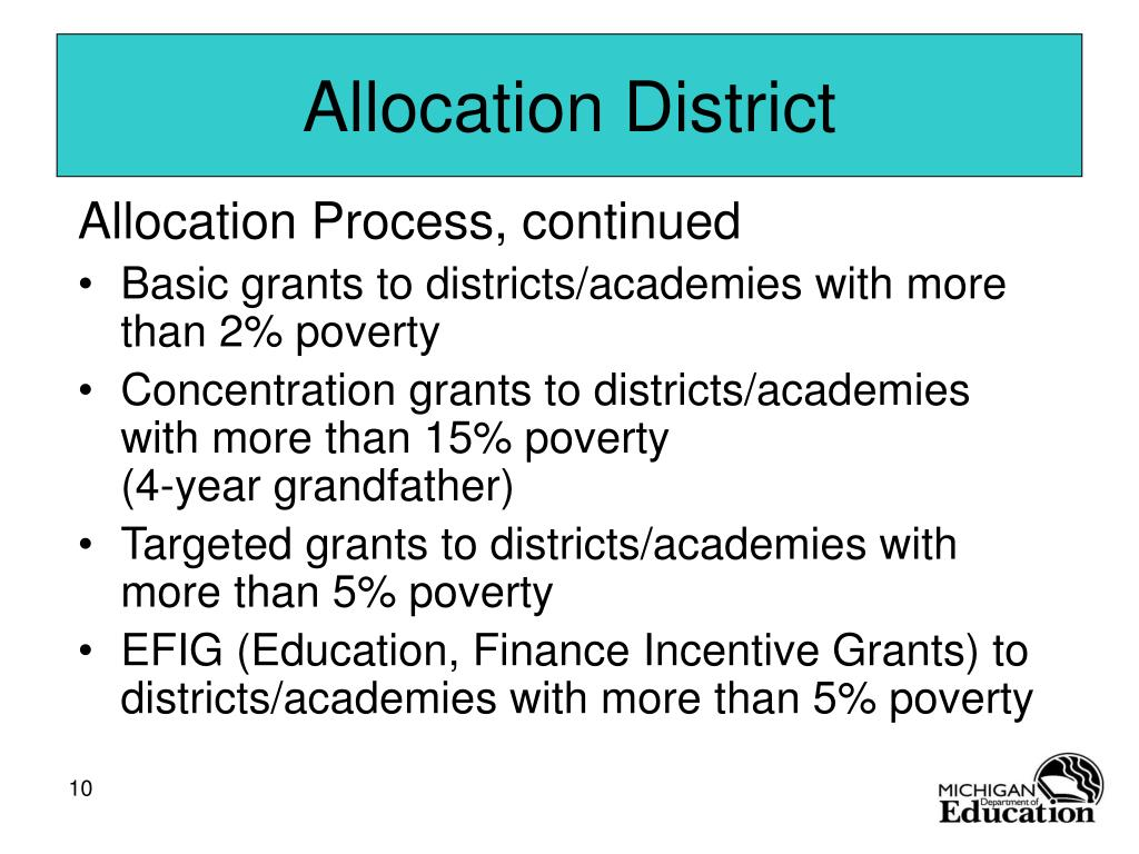 Allocation District