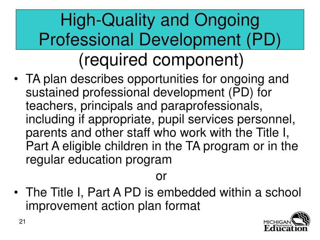 High-Quality and Ongoing Professional Development (PD)