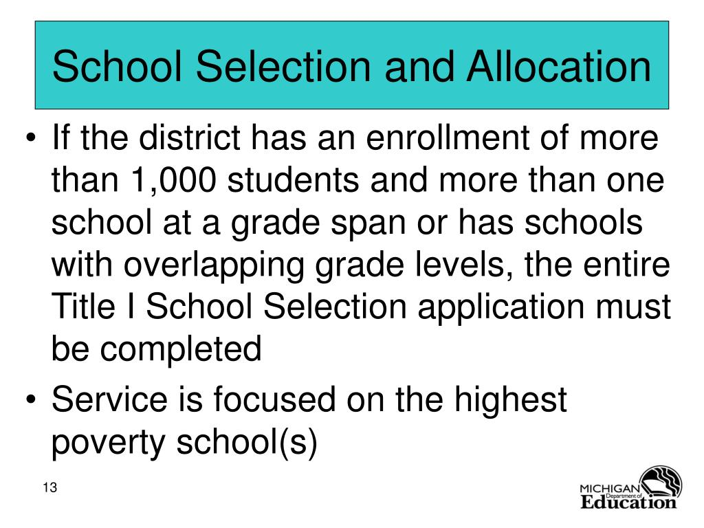 School Selection and Allocation