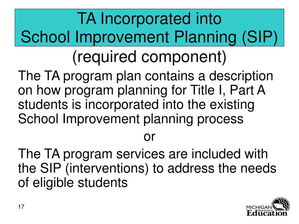 TA Incorporated into