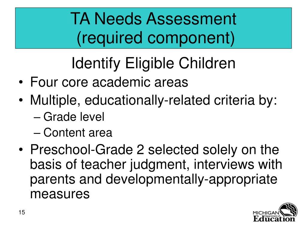 TA Needs Assessment