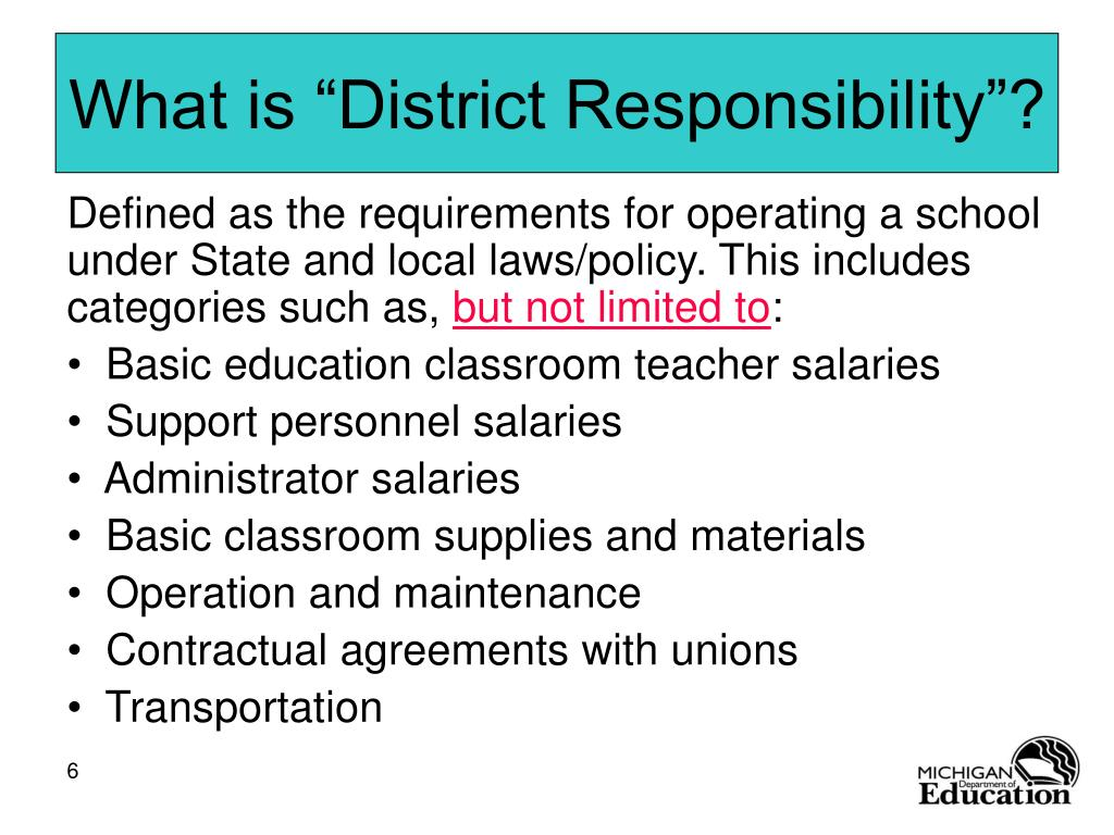 """What is """"District Responsibility""""?"""