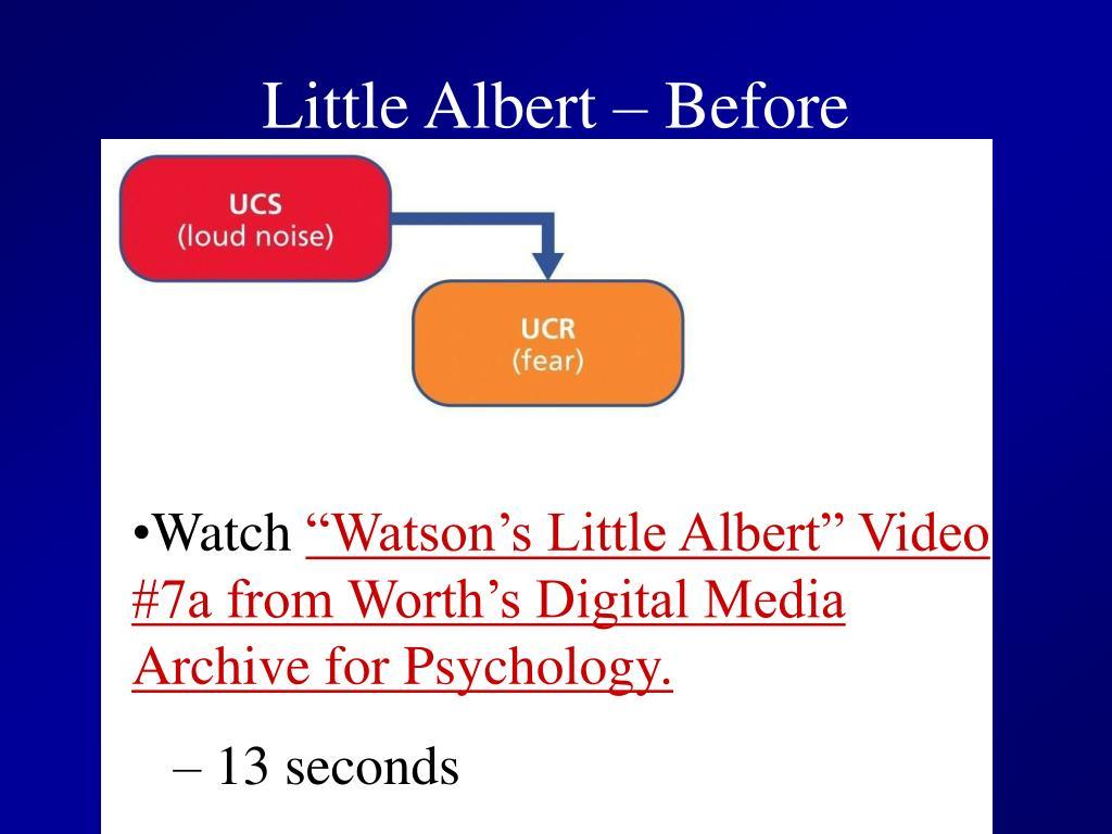 Little Albert – Before Conditioning
