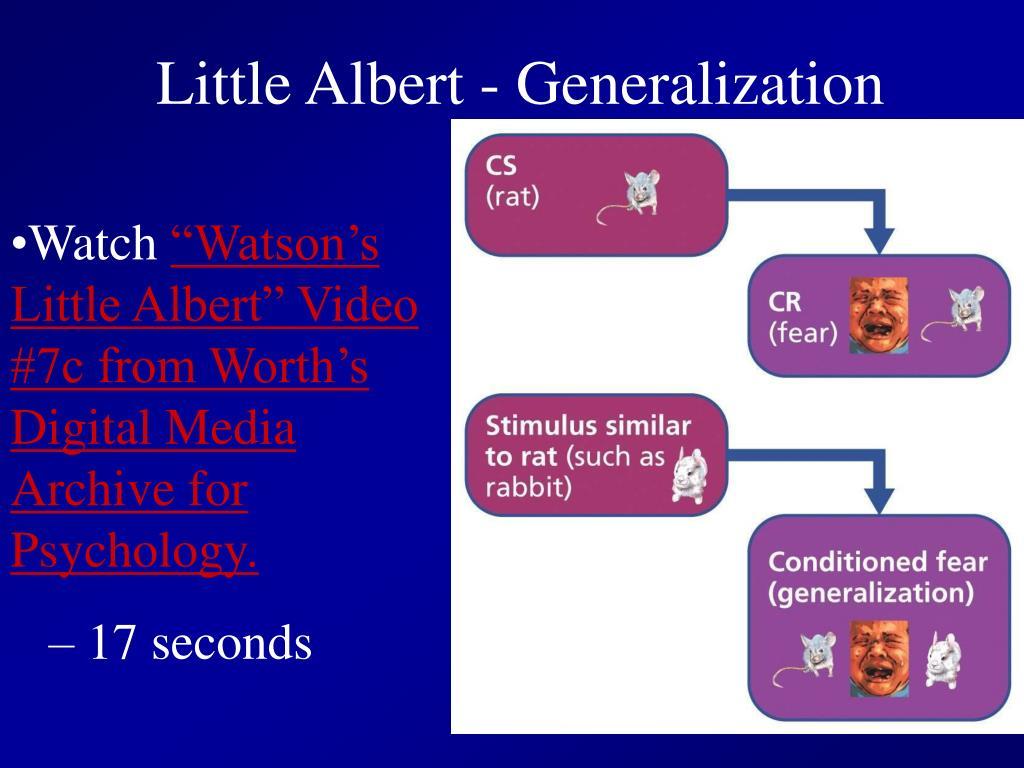 Little Albert - Generalization