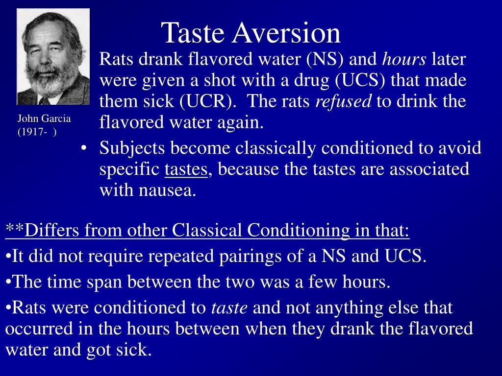 Taste Aversion
