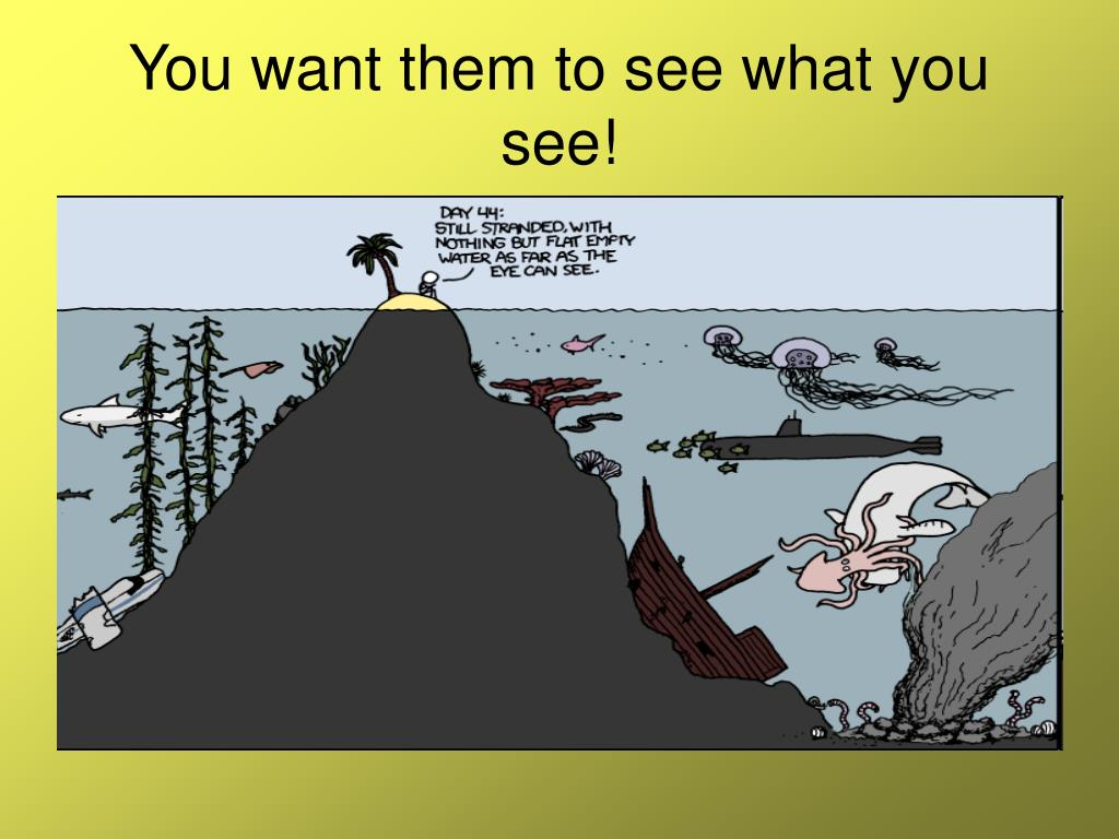You want them to see what you see!