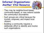 informal organizations another vital resource25