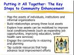 putting it all together the key steps to community enhancement
