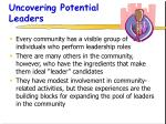 uncovering potential leaders
