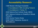 accessibility research