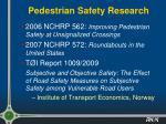 pedestrian safety research