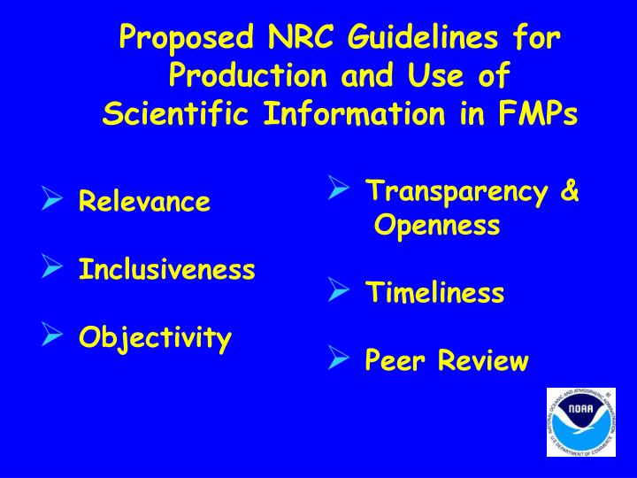 Proposed NRC Guidelines for