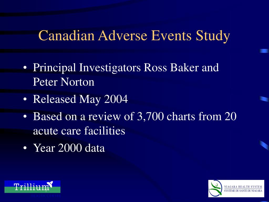 Canadian Adverse Events Study
