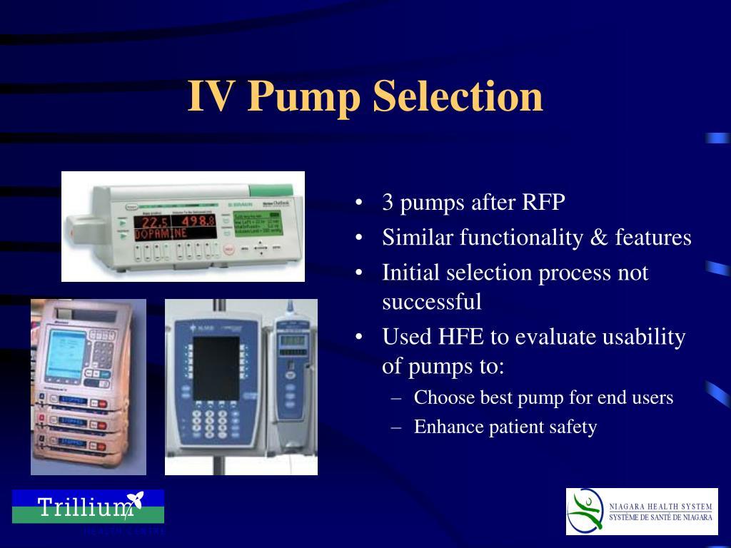 3 pumps after RFP