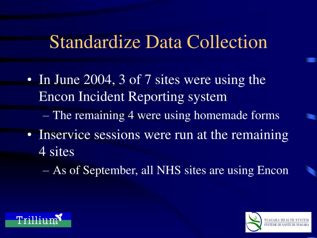 Standardize Data Collection