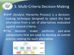 3 multi criteria decision making