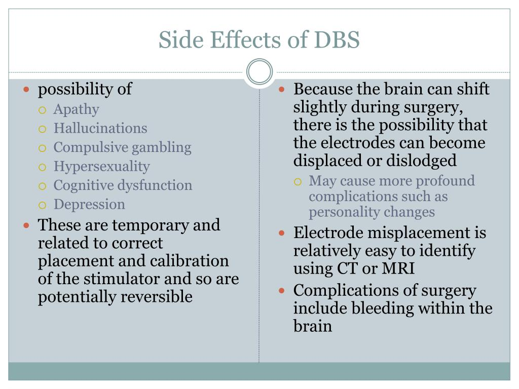 Side Effects of DBS