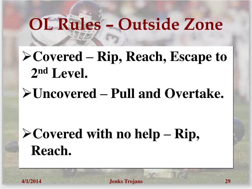 OL Rules – Outside Zone