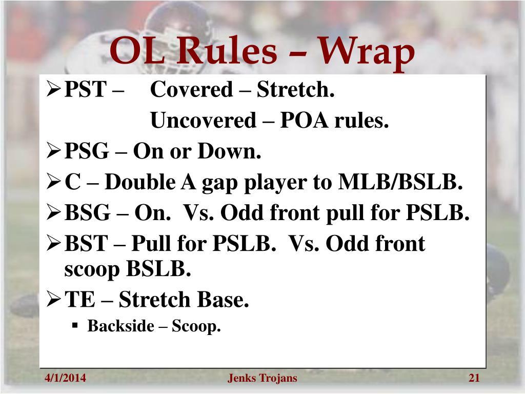 OL Rules – Wrap