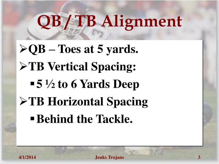 Qb tb alignment