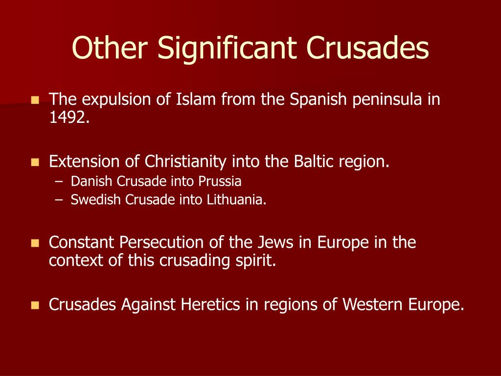 the significance of the crusades