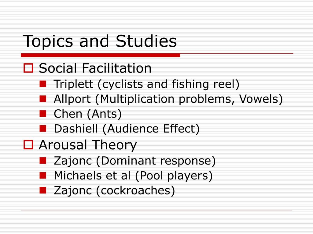 Topics and Studies