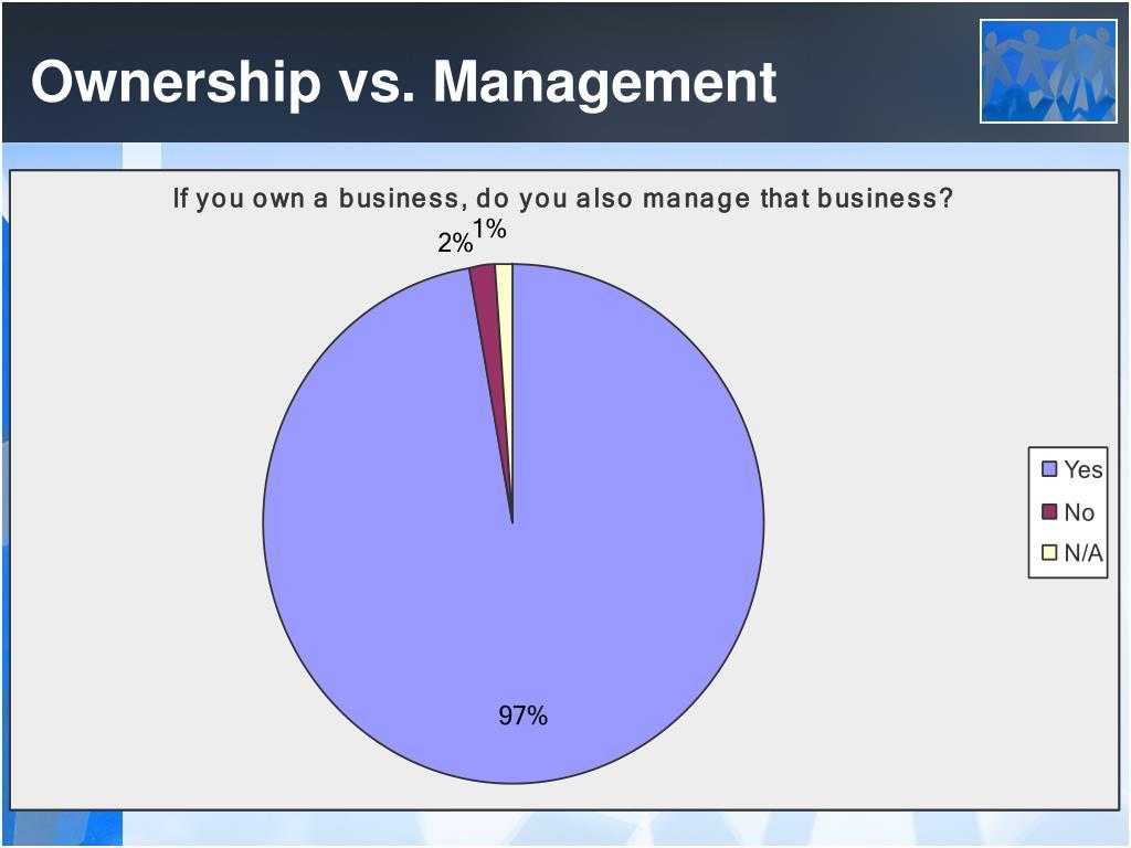 Ownership vs. Management