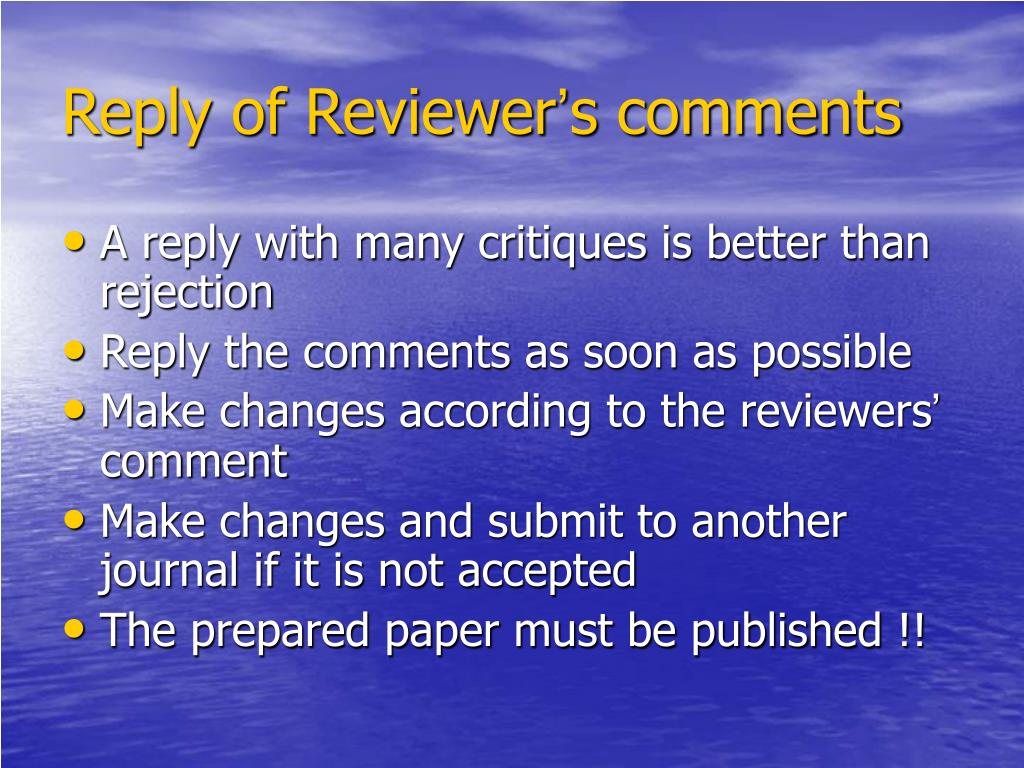 Reply of Reviewer