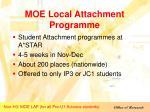 moe local attachment programme