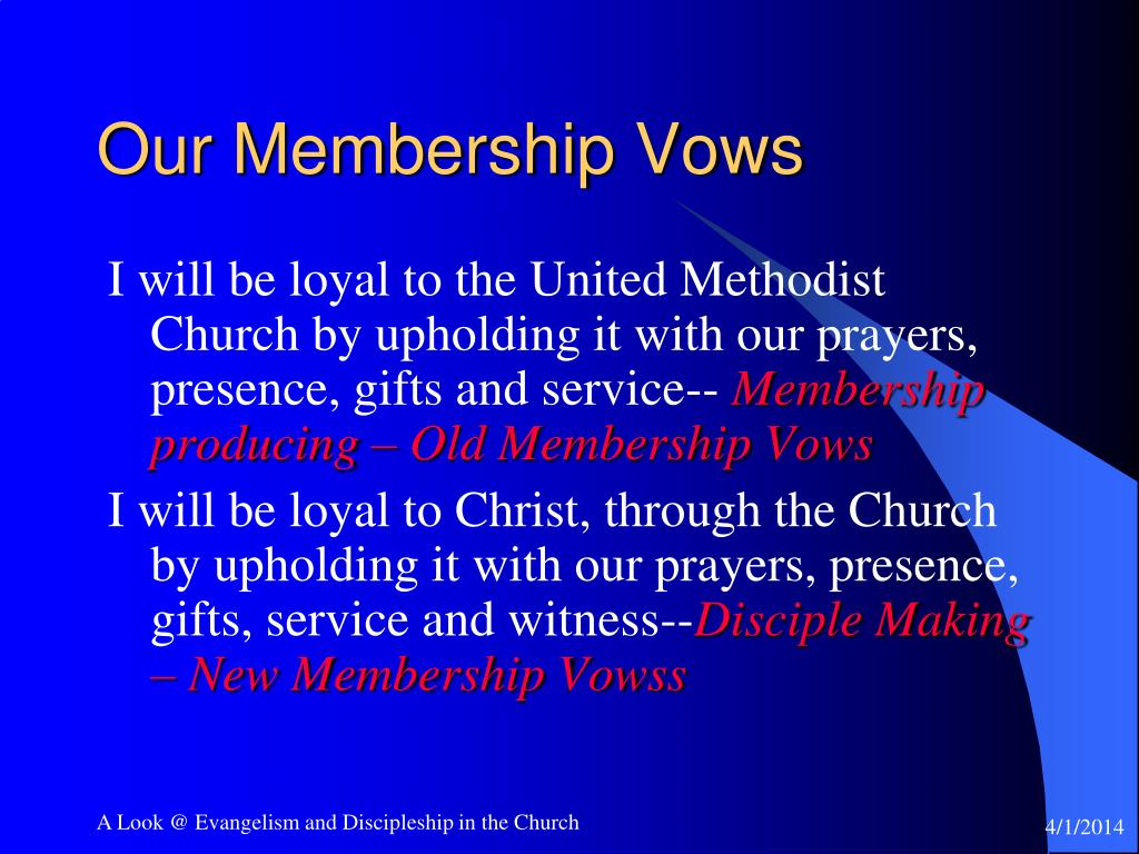 Our Membership Vows