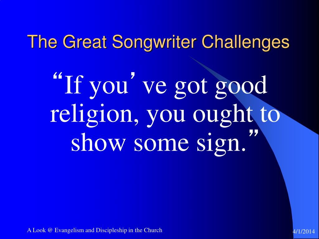 The Great Songwriter Challenges