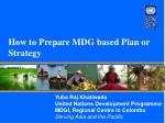how to prepare mdg based plan or strategy