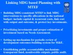 linking mdg based planning with mtef