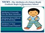 nicky the attributes of a future ready graduate begin in elementary school